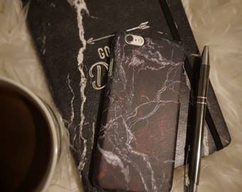 Marble Black & Red Phone Case for iPhone 8 / iPhone 7 / 7Plus, iPhone 6/6Plus iPhone5 Samsung Galaxy S7/7 edge / S6 / S6 edge/S5