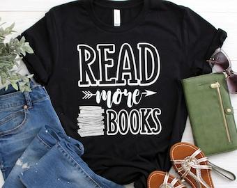 046771516 Read More Books Cute Reading Teacher Short-Sleeve Unisex T-Shirt