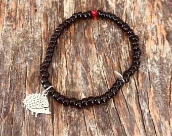 Celebrate your uniqueness - hedgehog bead bracelet