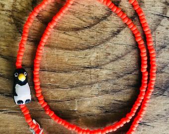 double wrap penguin bracelet, lucandbell bracelet, penguin bracelet