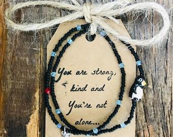 swarovski crystal blue, bead bracelet