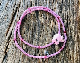 beaded bracelet with swarovski crystals