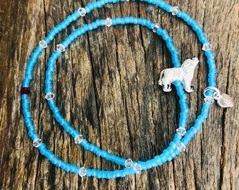 beaded bracelet, stacking bracelet, swarovski crystals
