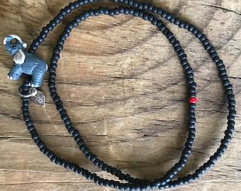 double wrap grey elephant bracelet, wrap bracelet