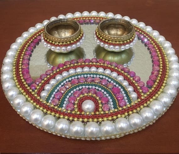 & Decorative plates/ Diwali Puja item/ engagement plate/