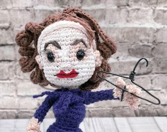 Pattern Only Mommie Dearest Amigurumi Crochet Pattern Movie Icon Joan Crawford Cult Film Figure