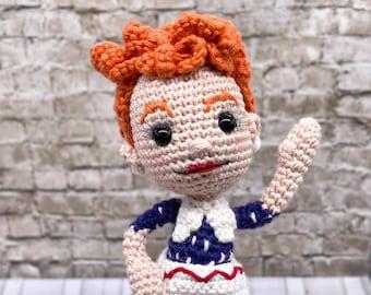 Pattern Only Lucy I Love Lucy Amigurumi Crochet Doll Fan Art Retro Fun DIY
