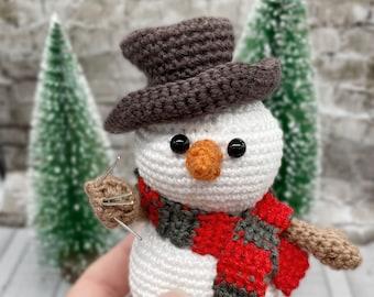 Freddy Horror Snowman Pattern Only Nightmare Crochet Amigurumi Horror Movie Fan Easy Beginners Pattern Holiday Christmas Crochet
