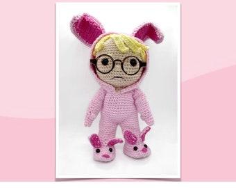 Pattern PDF Boy in Bunny Suit Crochet Pattern Christmas Amigurumi  Bunny Suit Geek Crochet Pattern DIY Christmas Decoration