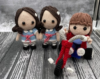 PATTERN BUNDLE  for Danny and his Tricycle AND The Creepy Twins Horror Fan Art Crochet Pattern Amigurumi Dolls