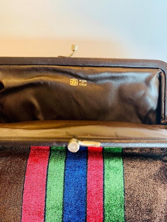 Vintage Italian 1970's, velvet clutch bag... so c… - image 4