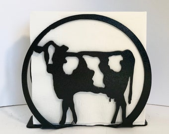 COW NAPKIN HOLDER Napkin Holder Metal Cow Decor Lover Gift Farmhouse Farm