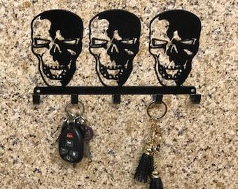 SKULL KEY HOLDER, skull, key holder, key holder for wall, metal key holder, skeleton, skull lover, skull key holder, skull decor, skull gift