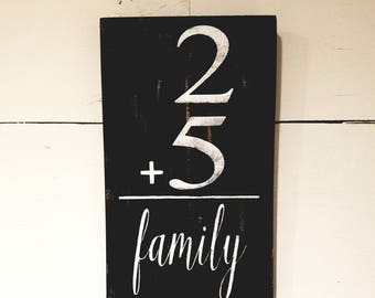 Personalized Family Sign - Plus Family Sign