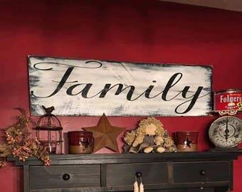 Large Family Sign - Rustic Decor - Rustic - Farmhouse - Farmhouse Decor - Country Decor