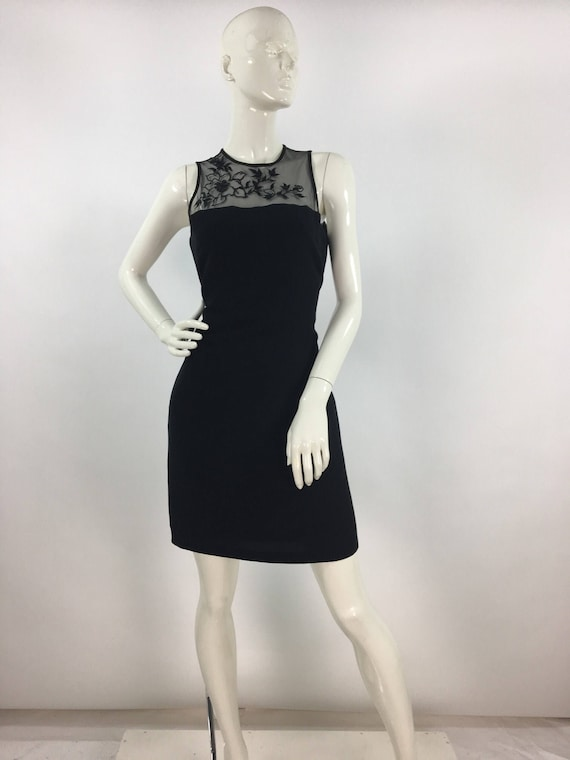1980s black cocktail dress