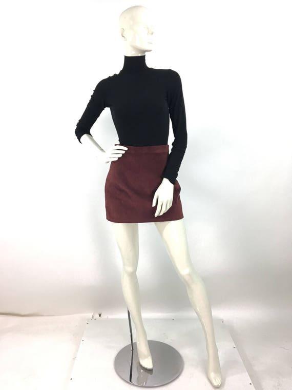 80s suede mini skirt/vintage mini skirt