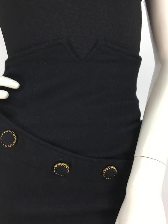 4628f0f1fa 1980s high waist black 100% wool vintage mini skirt | Etsy