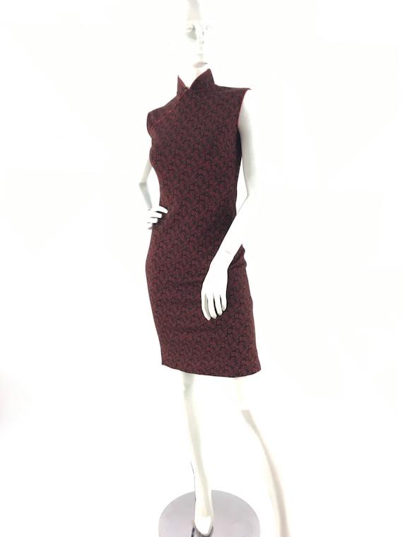 Vintage oriental dress/cheongsam dress/70s asian d