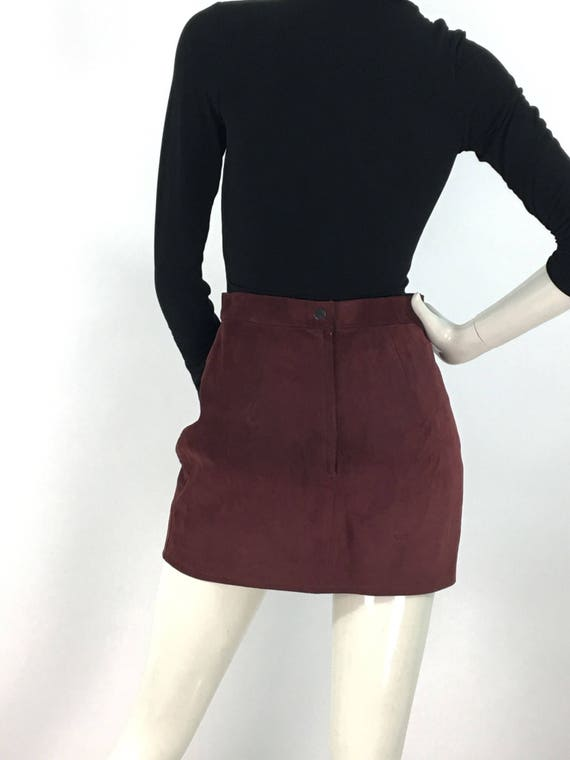 80s suede mini skirt/vintage mini skirt - image 7