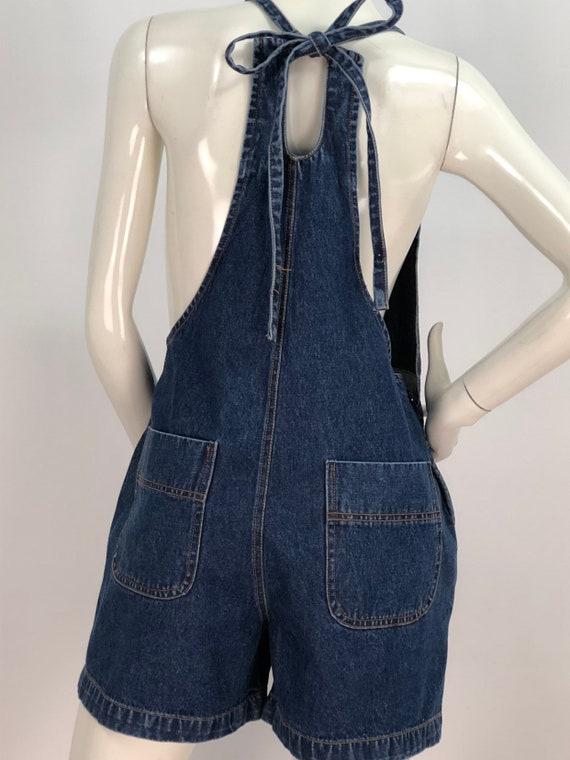 1990s denim overalls/90s jean overalls/90s short … - image 1