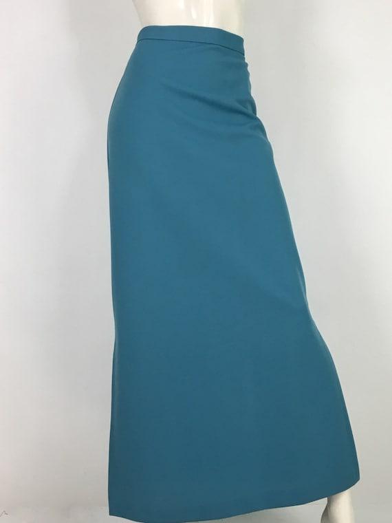 1960s maxi skirt/vintage maxi skirt/60s polyester