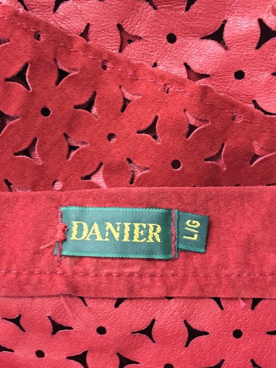 Vintage danier leather/leather cut out shirt/leat… - image 8