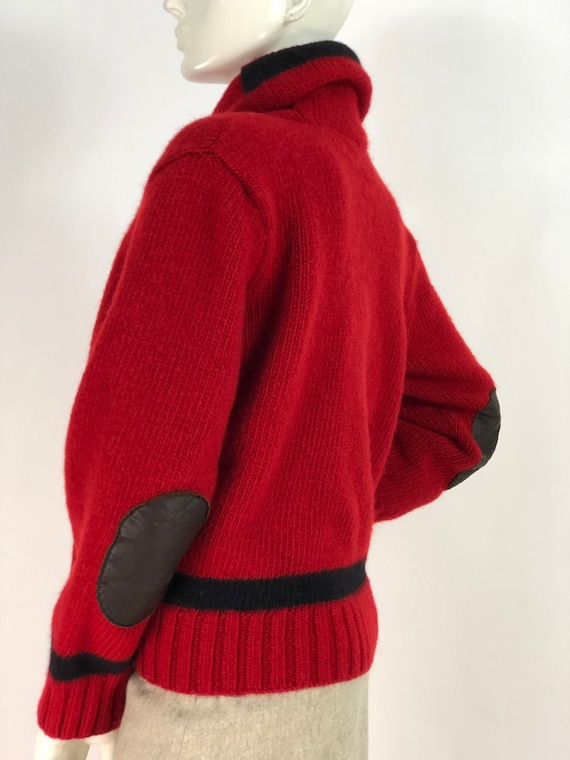 Vintage polo sweater/polo hand knit/polo 100% wool