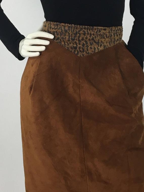 80s midi genuine leather skirt, 1980s leather skir