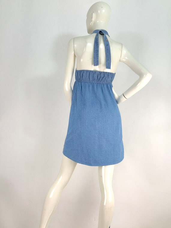 90s denim dress/vintage denim/vintage jean dress - image 6