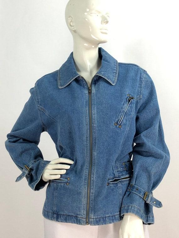 90s denim jacket/vintage denim jacket/jean jacket