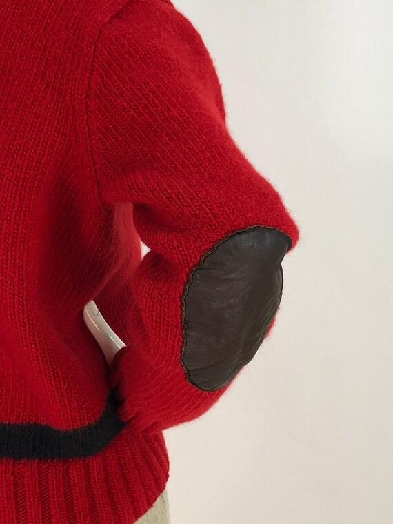 Vintage polo sweater/polo hand knit/polo 100% woo… - image 3