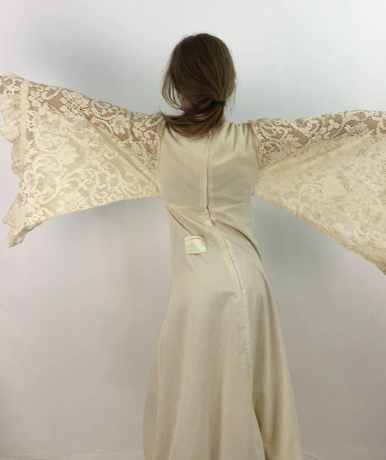 70s Gunne Sax by Jessica San Francisco ivory white crochet cotton dress