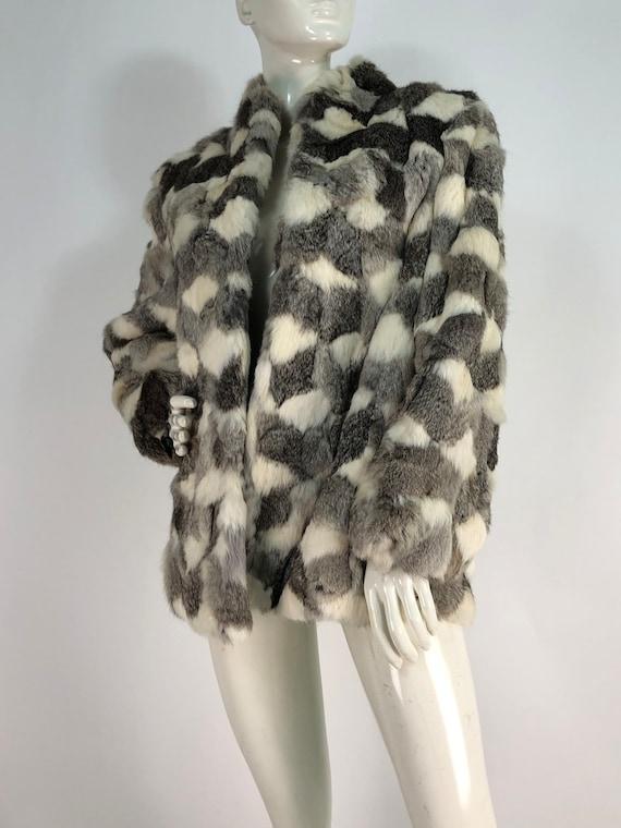 Fur coat/real fur coat/rabbit fur coat