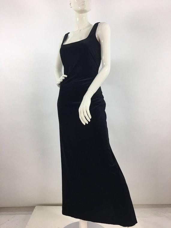 Vintage Algo maxi dress, 90s Algo crushed velvet m