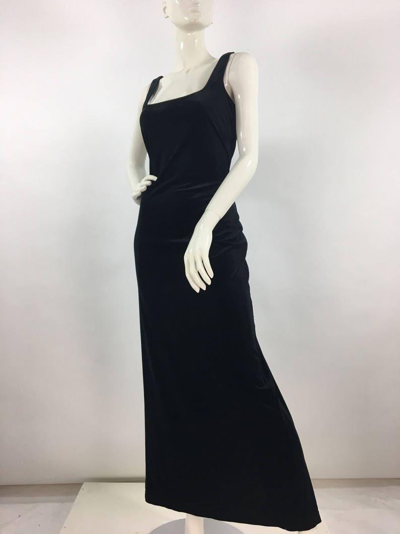 216d14fd6e8 Vintage Algo maxi dress 90s Algo crushed velvet maxi