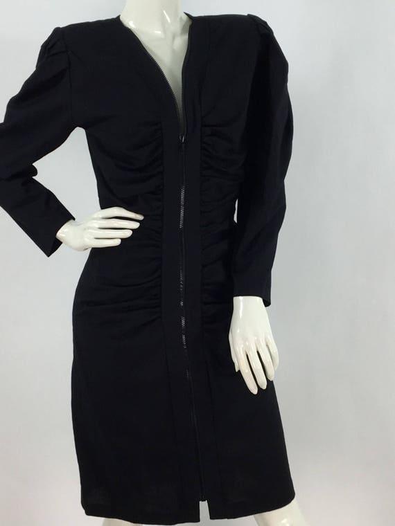 1980s zipper dress/80s dress