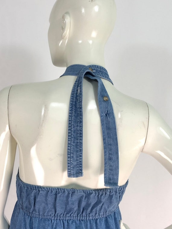 90s denim dress/vintage denim/vintage jean dress - image 4