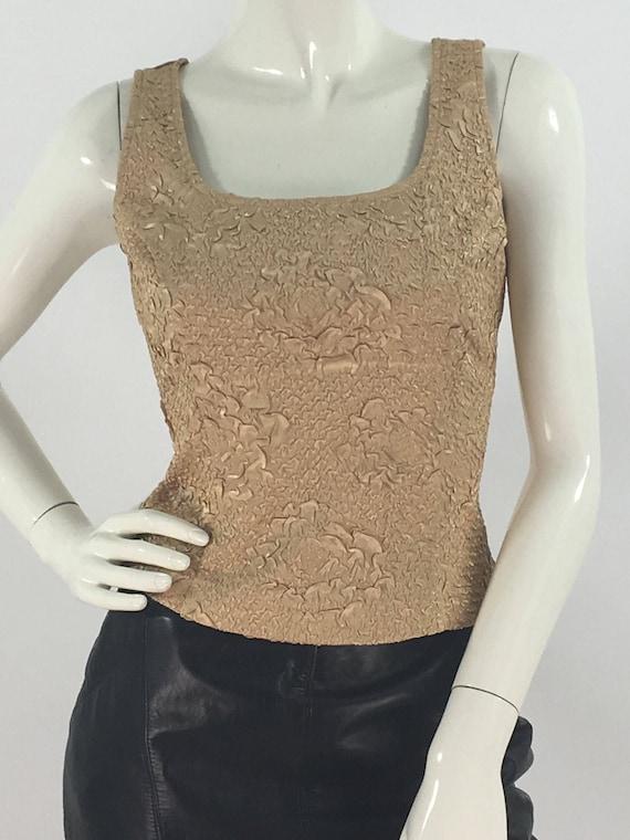 Vintage Ribkoff trends gold top side zipper - image 7