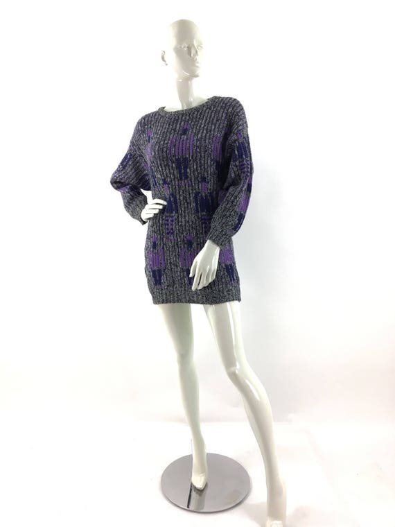 Vintage 1980's oversized sweater dress