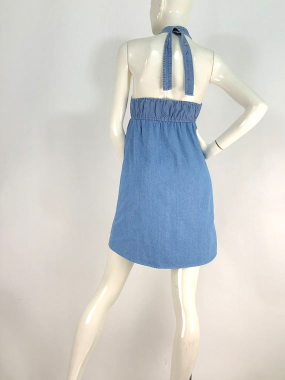 90s denim dress/vintage denim/vintage jean dress - image 2