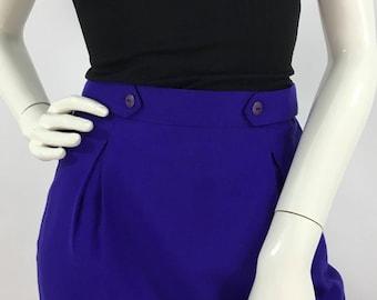 Vintage purle genuine vintage lined purple wool skirt