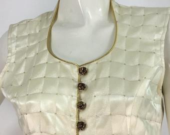 80s 90s peplum blouse/vintage peplum blouse