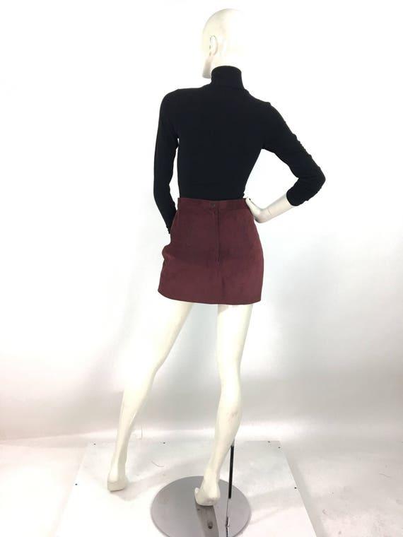 80s suede mini skirt/vintage mini skirt - image 3