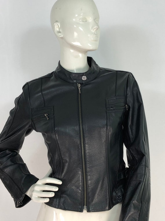 Leather jacket/90s leather/motorcycle jacket