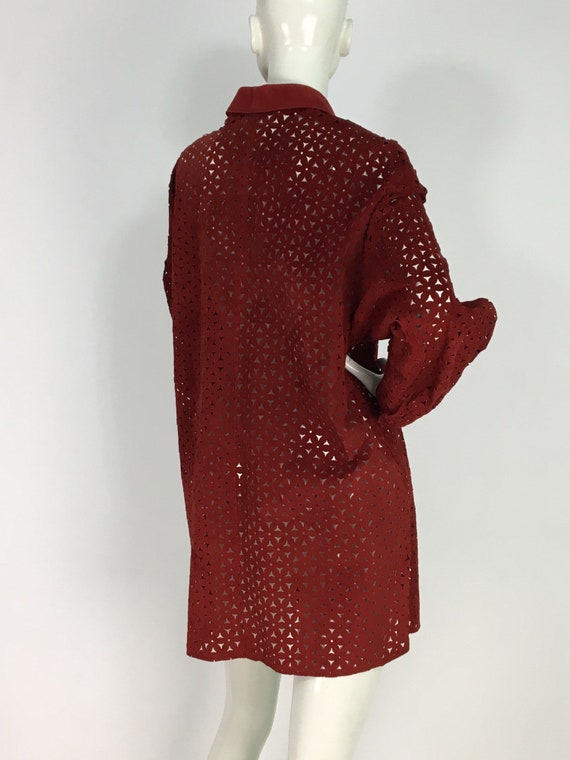Vintage danier leather/leather cut out shirt/leat… - image 10