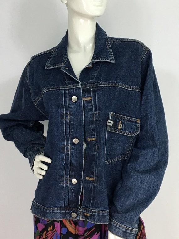 Indian motorcycle jean jacket/vintage indian jean