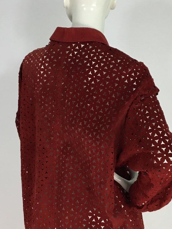 Vintage danier leather/leather cut out shirt/leat… - image 7