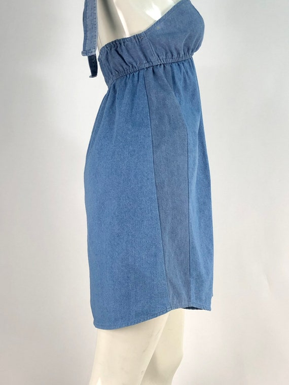 90s denim dress/vintage denim/vintage jean dress - image 7