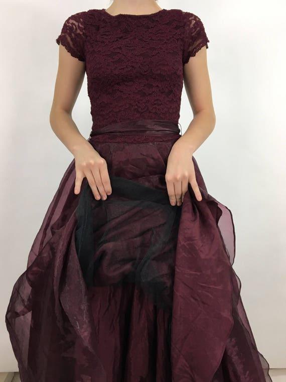 vintage prom dress/crinoline prom dress